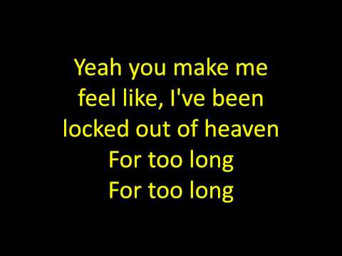 Bruno mars locked out of heaven official lyrics video hq hd