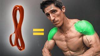 Build Big Shoulders with Bands (NO WEIGHTS!)