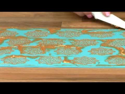 Claire Bowman BEAUTIFUL BUTTERFLIES cake / edible lace silicone tool mat