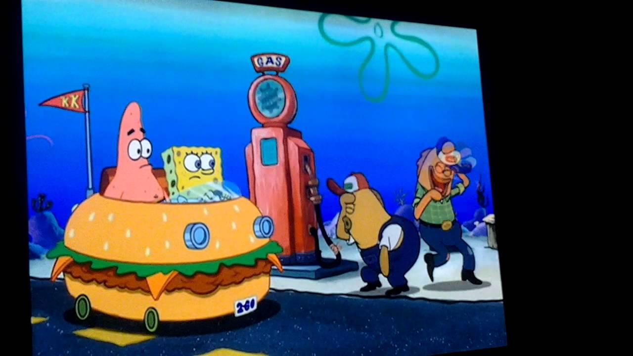 the spongebob squarepants movie gas station youtube