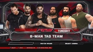 WWE 2K14 The Shield Vs The Wyatt Family RAW