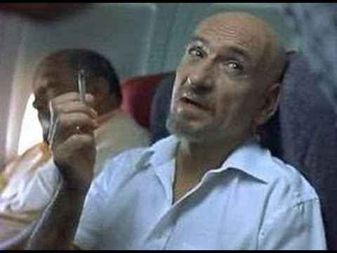 "Ben Kingsley in aeroplane scene from Sexy Beast as Don Logan - ""Its the one with the ginger hair"""