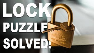 Solving the IMPOSSIBLE Lock Puzzle!!