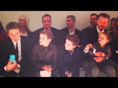 The Beckham Family at the Victoria Beckham Collection Show at Fashion Week | POPSUGAR News