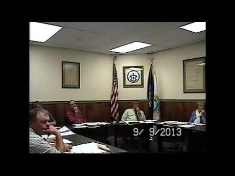 Champlain Village Board Meeting 9-9-13
