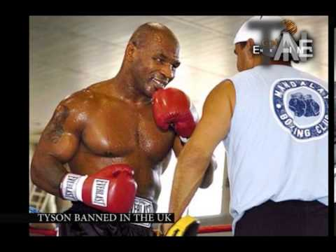 Mike Tyson banned inthe UK for rape