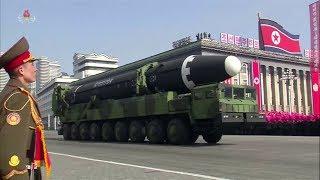 North Korea holds military parade on eve of Pyeongchang Olympics