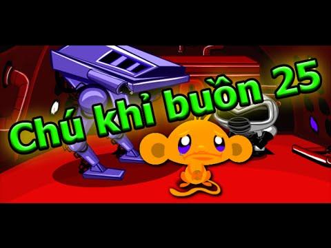 Game chú khỉ buồn 25 - Đáp án game chú khỉ buồn 25