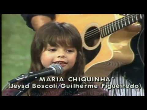Sandy e Junior 1989 - Primeira apresentação na tv - SOM BRASIL (Maria chiquinha)