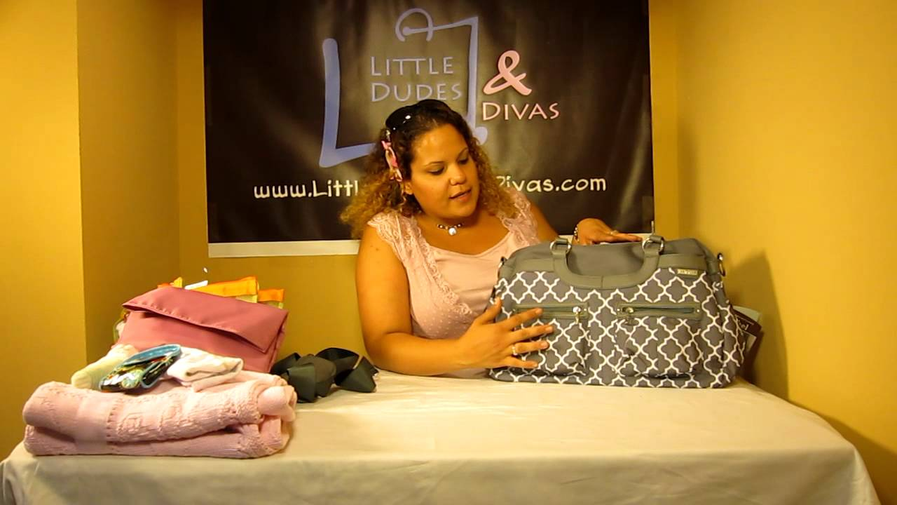 jj cole satchel diaper bag details and information youtube. Black Bedroom Furniture Sets. Home Design Ideas