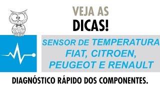 DICA MTE 22 – Sensor de Temperatura FIAT, Citroen, Peugeot e Renault