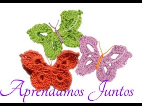 Como hacer mariposas en crochet