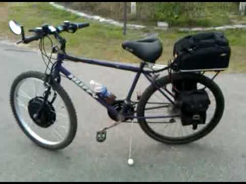 Electric Battery Powered Huffy Bicycle Using Crystalyte