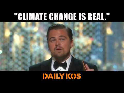 Leonardo DiCaprio Talks Climate Change at the Oscars