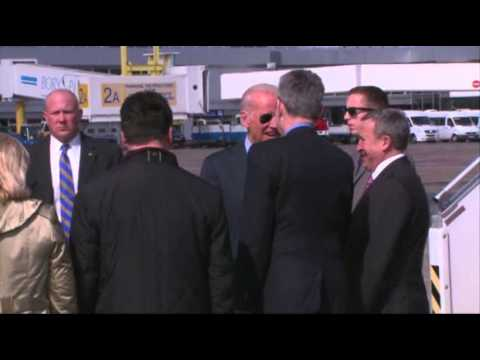 Raw: Biden Lands in Kiev for High-profile Visit
