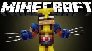 Minecraft : THE WOLVERINE MOD!!
