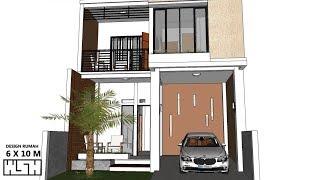 desain rumah ukuran 4x10 meter 2 lantai - desain rumah