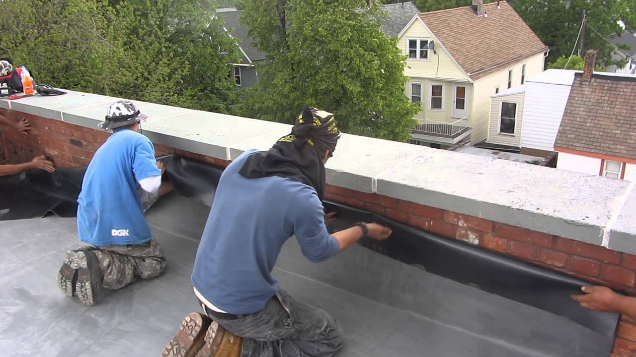 Naples Roofing. . . EPDM RUBBER Wall Flashing Detail - YouTube