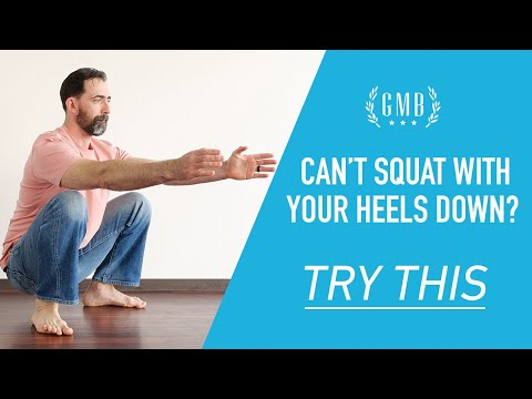 Trouble getting your heels down in a squat? Try this...