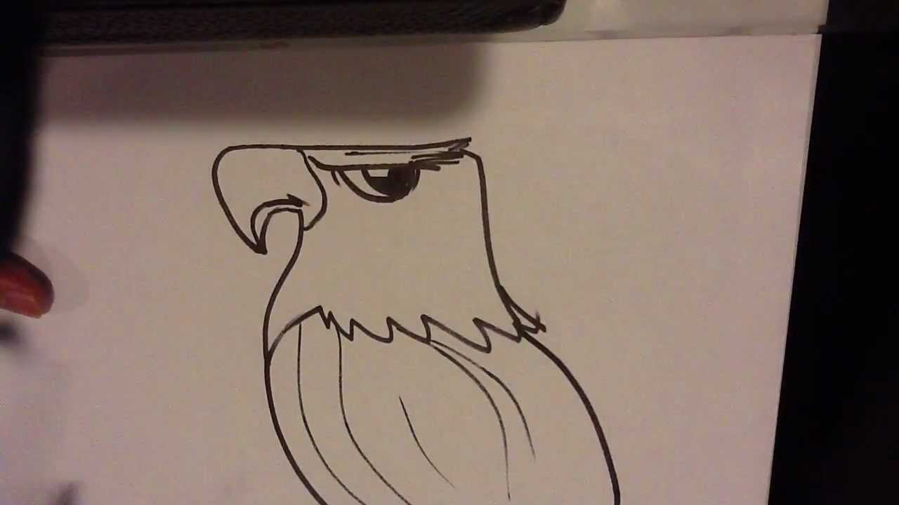 how to draw an eagle head easy things to draw youtube