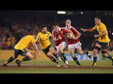 Australia vs British and Irish Lions Second Test 2013  | Rugby Video Highlights - Australia vs Briti