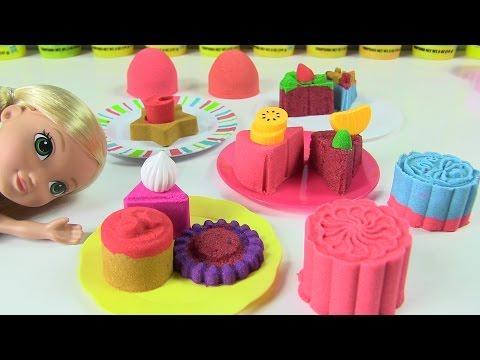 Đồ Chơi Trẻ Em - Làm Bánh Sinh Nhật Bánh Cookie Bằng Cát Động Lực / Mở Hộp Dụng Cụ Làm Bánh Đồ Chơi