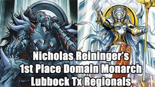 Nicholas Reininger's 1st Place Domain Monarchs Deck Profile/Interview Lubbock Tx Regionals