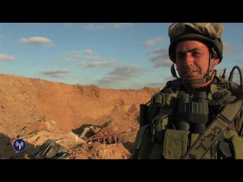 Israeli army video claims to show tunnels from Gaza to Israel