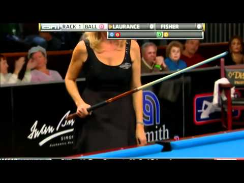 03/18/12 WPBA Masters - Final rack 1 Allison Fisher vs Ewa Mataya Laurance Billiard HD