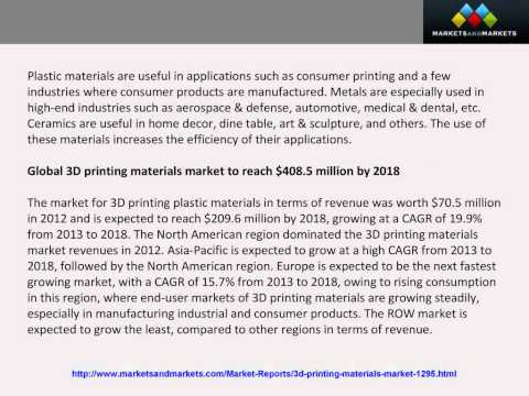 3d printing material market would witness Global dental 3d printing market witness a healthy cagr of 165% analysis of the global dental 3d printing market in terms of segments based on material.