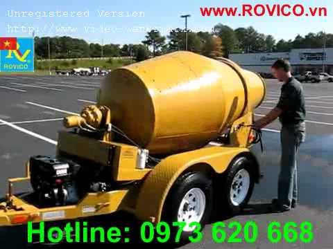 Vận hành máy trộn bêtông ROVICO 750L, Xe trộn bêtông tự hành.wmv