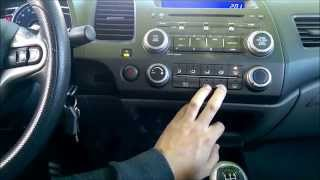 How To Turn Off AC On Defrost In 2006-2011 Honda Civic