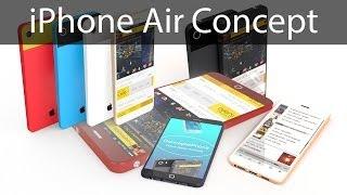 คอนเซป iPhone Air ใหม่ล่าสุด หน้าจอ 4.6 นิ้ว Full HD