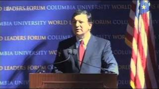 President of the European Commission, José Manuel Barroso at World Leaders Forum