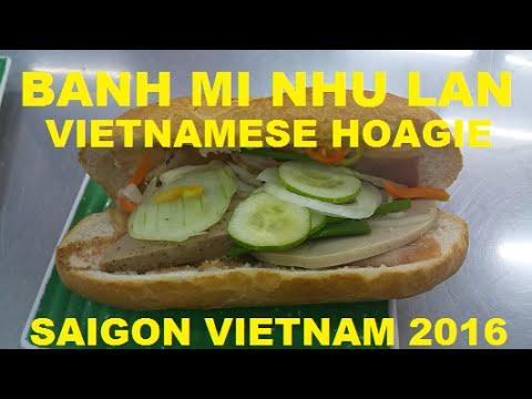 Vietnamese Hoagie Banh Mi Nhu Lan Saigon Vietnam 2016