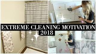 CLEAN WITH ME 2018 | EXTREME CLEANING MOTIVATION | DEEP CLEANING UPSTAIRS