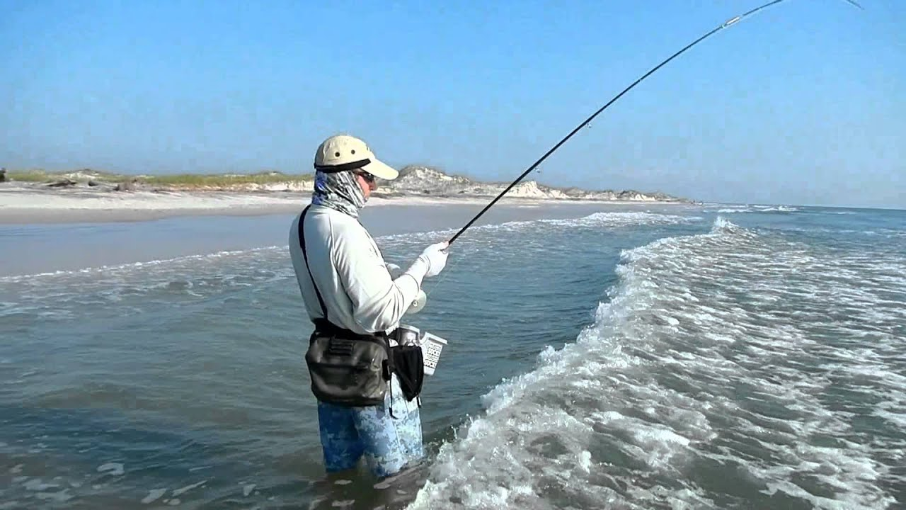 Fly fishing jacksonville surf 1 youtube for Youtube trout fishing