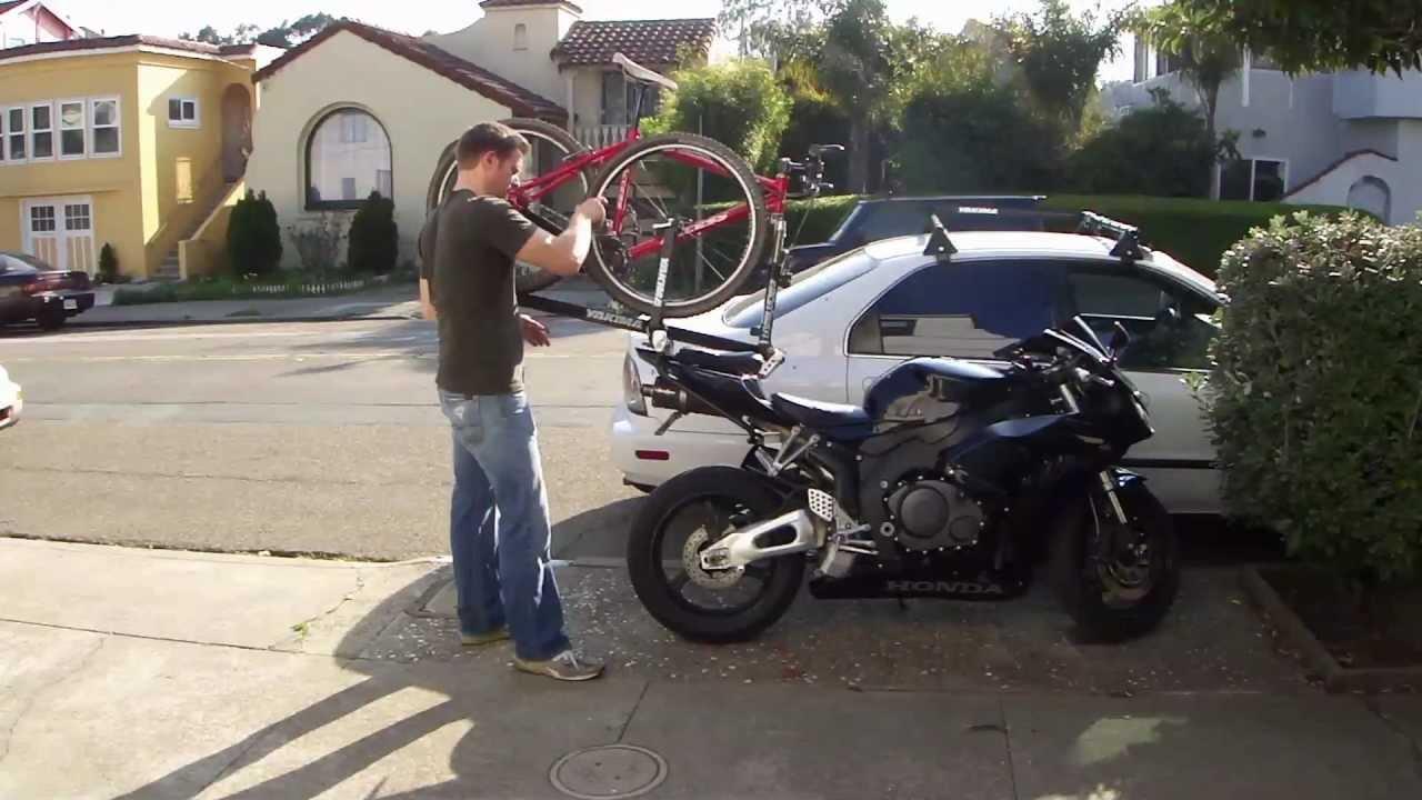 Motobikemount How I Mounted My Bicycle On My Honda