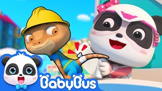 Emergency! Rope is almost Falling down | Super Panda Rescue Team Comlilation | BabyBus Cartoon