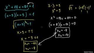 Reševanje kvadratne enačbe s korenom