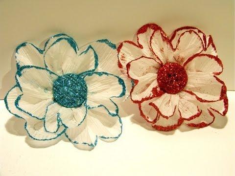 Flower Friday Glittered Crepe Paper