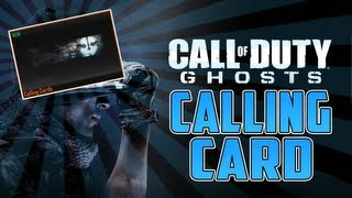 "How To Get NEW Call Of Duty Ghosts ""CALLING CARD"" New"