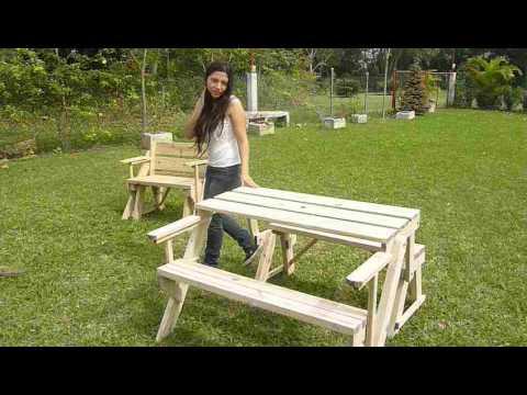 Mesa de jardin barata