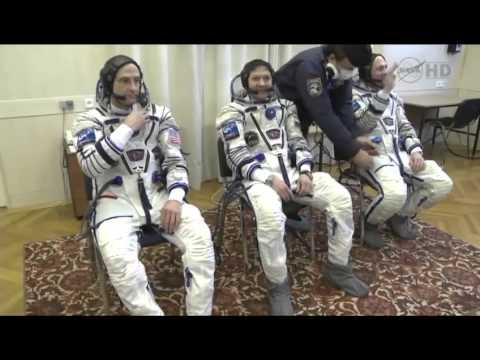 Expedition 30 31   Crew Launch Day Preparations Video from Baikonur Kazakhstan   HD S