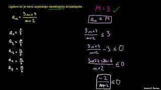 Lastnosti zaporedij – naloga 3
