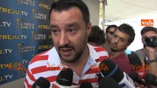 SALVINI ALLEANZA NON CAMBIO BANDIERA OGNI QUARTO D ORA CONTRO EUROPA TUTTI INSIEME 20-09-14