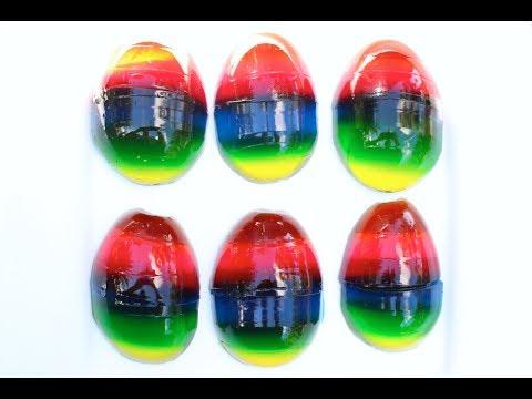 Gummy Rainbow Easter Eggs