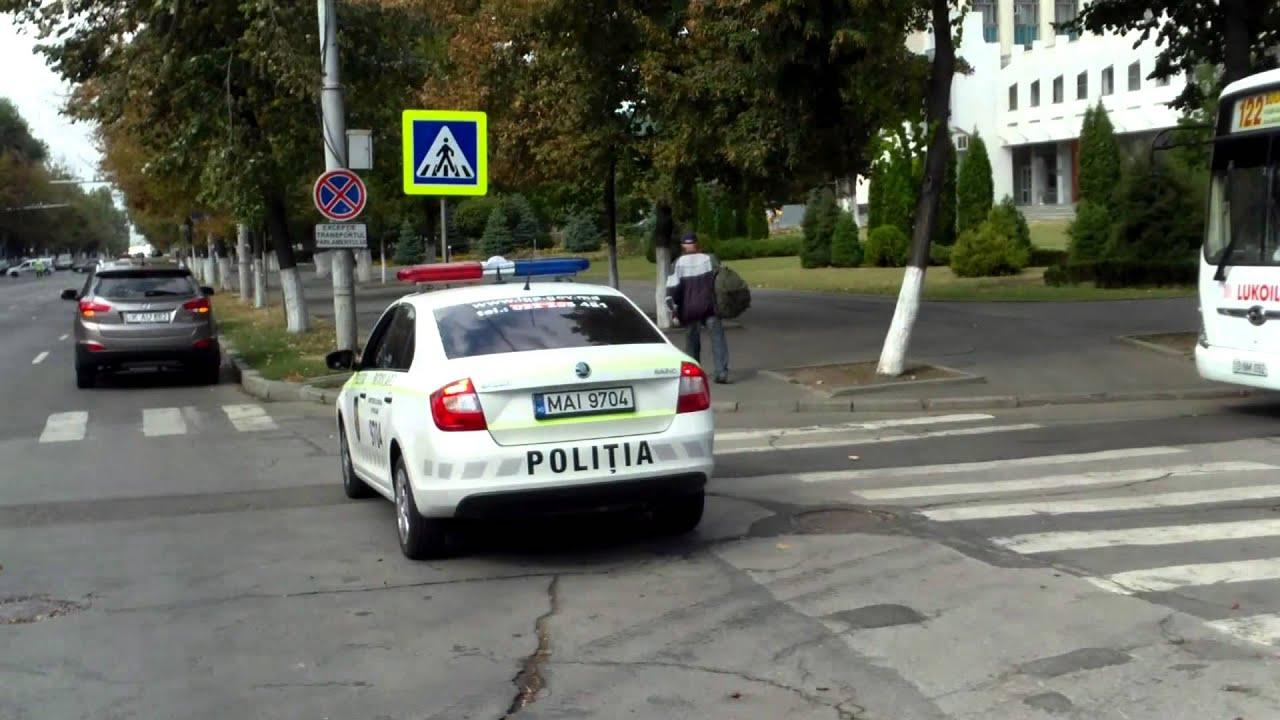 Poliția n-a putut organiza traficul duminical în centrul capitalei