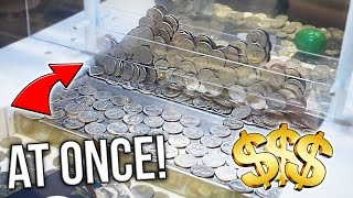 Coin Pusher || 200 QUARTERS AT ONCE!!  ( CLOSED )
