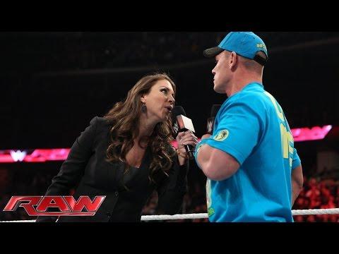 Stephanie McMahon ponders a WrestleMania without John Cena: Raw, March 2, 2015